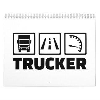 Conductor del camionero calendarios de pared