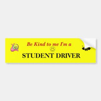 Conductor del estudiante pegatina para auto