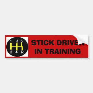 Conductor del palillo en el entrenamiento pegatina para auto