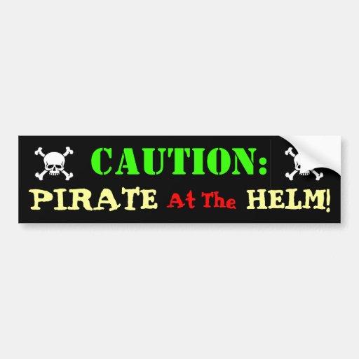 Conductor del pirata pegatina de parachoque