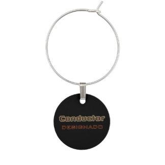 Conductor Designado Wine Glass Charm