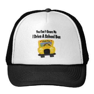 Conductor divertido del autobús escolar gorros