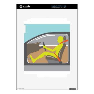 Conductor en la correa del asiento de carro iPad 2 calcomanía