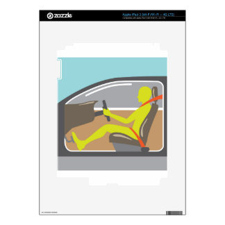 Conductor en la correa del asiento de carro iPad 3 skin