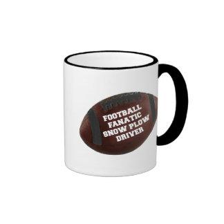 Conductor fanático del quitanieves del fútbol tazas de café