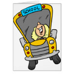 Conductor femenino del autobús escolar felicitaciones