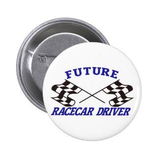 Conductor futuro de Racecar Pin Redondo De 2 Pulgadas