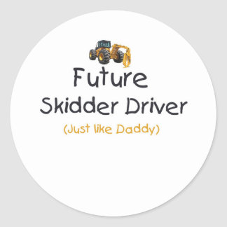 Conductor futuro del peón de arrastre pegatinas redondas