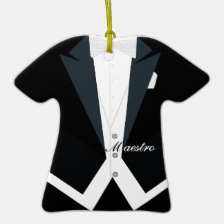 Conductor in Tuxedo, White Tie and Tails Christmas Tree Ornament