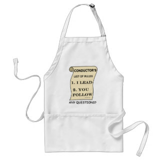 Conductor List Of Rules Adult Apron