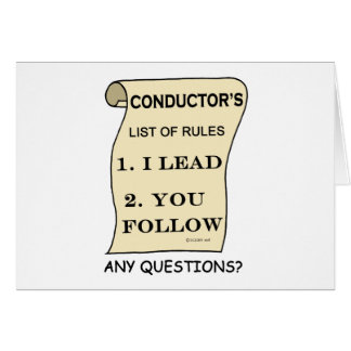 Conductor List Of Rules Greeting Card