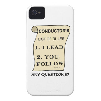 Conductor List Of Rules iPhone 4 Case-Mate Case