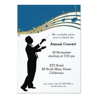 Conductor Orchestra 5x7 Paper Invitation Card