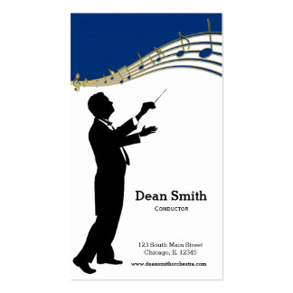 Conductor Orchestra Double-Sided Standard Business Cards (Pack Of 100)