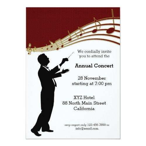 Conductor Orchestra Invitation