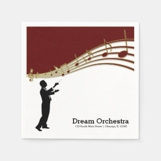 Conductor Orchestra Standard Cocktail Napkin