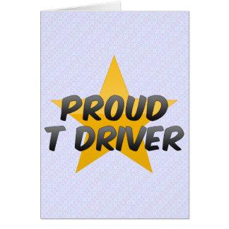 Conductor orgulloso de T Felicitaciones