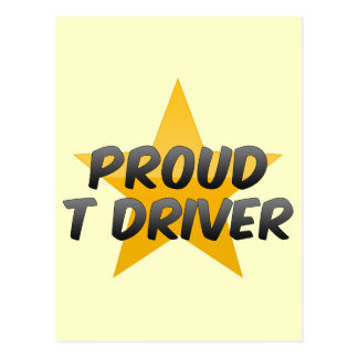 Conductor orgulloso de T Postal