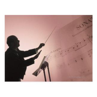Conductor Postcard