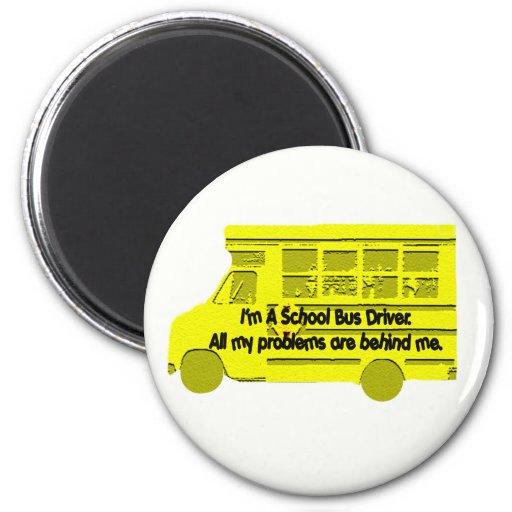 Conductor-Problemas del autobús detrás de mí imán