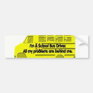 Conductor-Problemas del autobús detrás de mí pegat Pegatina Para Auto