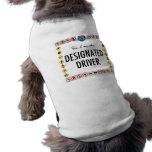 Conductor señalado del perrito ropa macota