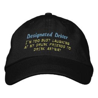 Conductor señalado gorras de béisbol bordadas