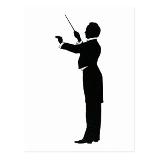 Conductor Silhouette Postcard