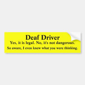 Conductor sordo de la lectura de mente pegatina para auto