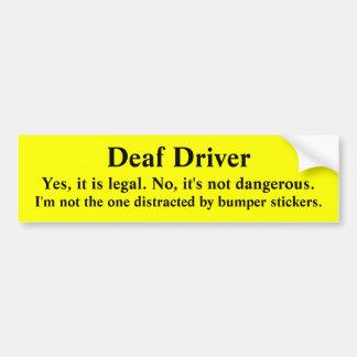 Conductor sordo seguro no distraído pegatina para auto