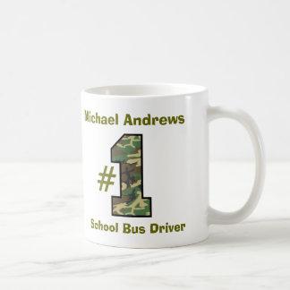 Conductor V37 del autobús escolar del número uno Taza Clásica