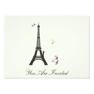 Conductor y torre Eiffel - el vintage invita Invitacion Personal