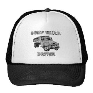 Conductores de camión volquete gorras de camionero