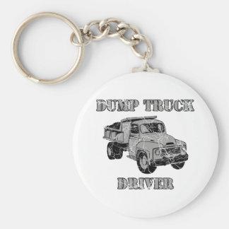 Conductores de camión volquete llavero redondo tipo pin