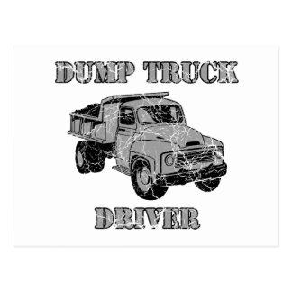 Conductores de camión volquete postal