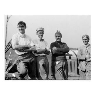 Conductores de coche de carreras 1910 tarjetas postales
