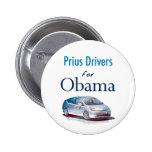 Conductores de Prius para el botón de Obama