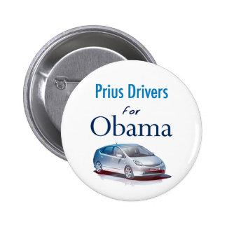 Conductores de Prius para el botón de Obama Pin Redondo De 2 Pulgadas
