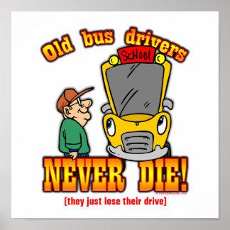 Conductores del autobús póster