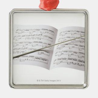 Conductor's Baton Metal Ornament