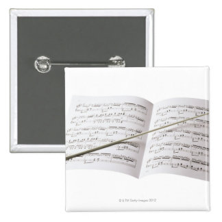 Conductor's Baton Pinback Button
