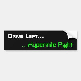 Conduzca a la izquierda, la derecha de Hypermile Pegatina Para Auto