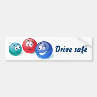 Conduzca a la pegatina para el parachoques segura pegatina para auto