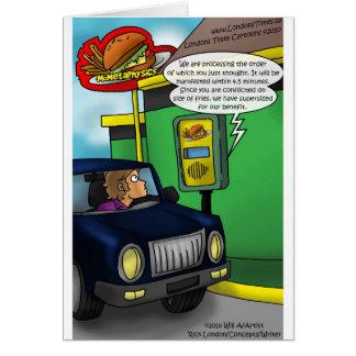 Conduzca a través de camisetas y de regalos divert tarjeta de felicitación
