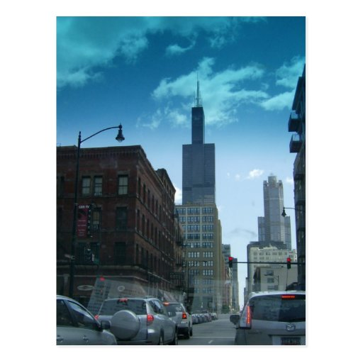 Conduzca a través de Chicago céntrica Tarjeta Postal