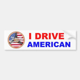 Conduzca al americano pegatina de parachoque