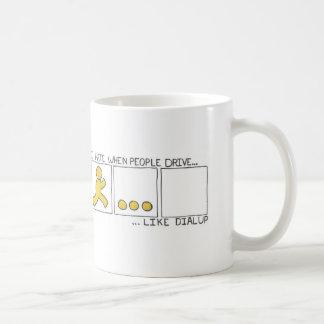 Conduzca como terminal de marcado manual taza de café