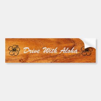 Conduzca con hawaiana pegatina para auto