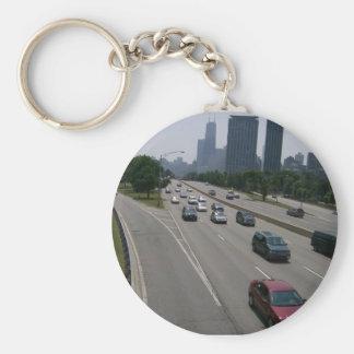 Conduzca con llavero del tráfico del trabajo