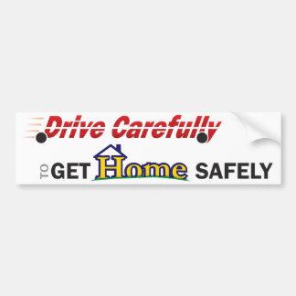 Conduzca con seguridad a la pegatina para el parac pegatina de parachoque